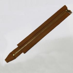 명품가죽지퍼-30cm(카멜)